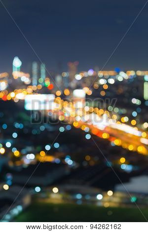 City bokeh light during twilight