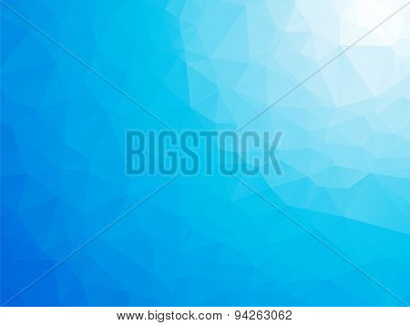 Abstract Triangular Blue White Winter Background