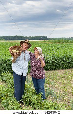 Senior Couple On Farmland