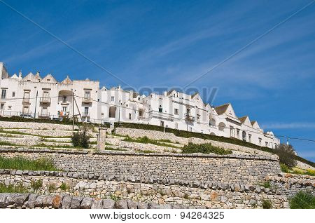 Panoramic view of Locorotondo. Puglia. Southern Italy.