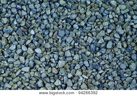 Blue Pebbles, Detail, Horizontal