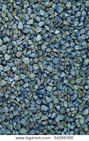 Blue Pebbles, Detail, Vertical