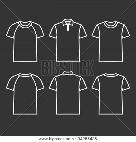 Contour Icons T-shirts