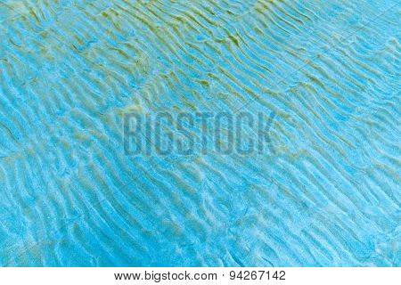 Thai Sandy beach natural background. Detailed sand texture. Top view