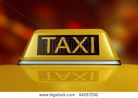 3D Taxi In The Night City