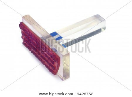 Transparent plastic rubber ink stamp