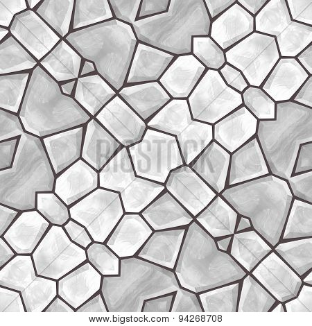 Kaleidoscopic Seamless Background In Gray Color