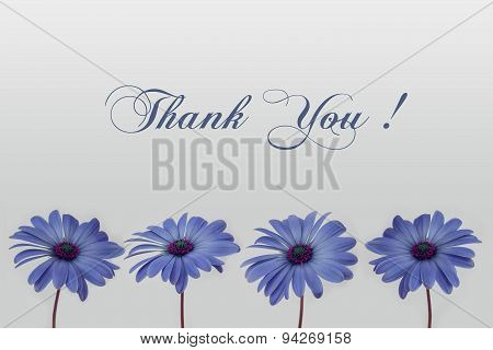 thank you card - flower decoration