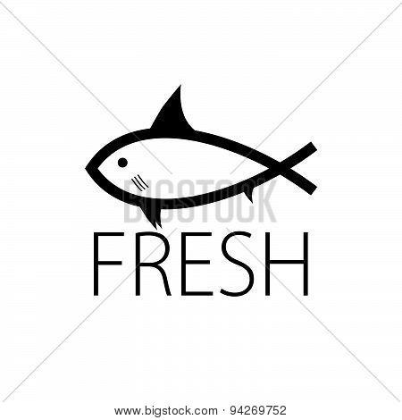 Fish Fresh Black Art Vector