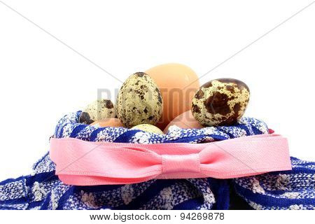 Basket With Pink Ribbon