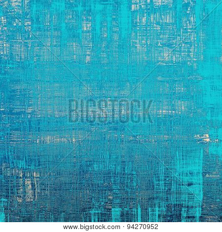 Old abstract grunge background for creative designed textures. With different color patterns: yellow (beige); blue; cyan