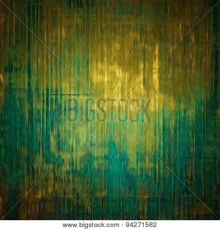 Weathered and distressed grunge background with different color patterns: yellow (beige); brown; blue; green