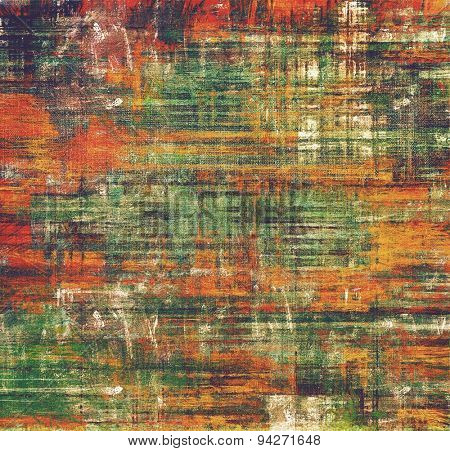 Abstract textured background designed in grunge style. With different color patterns: brown; green; black; red (orange)