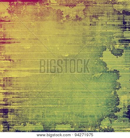 Designed background in grunge style. With different color patterns: yellow (beige); green; purple (violet); pink