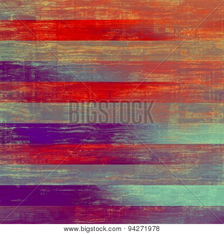 Old vintage background with retro-style elements and different color patterns: blue; purple (violet); pink; red (orange)