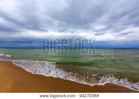 majestic storm scene on sea