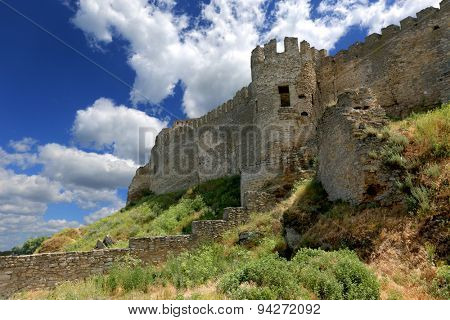 ruins of old fortress in summer day
