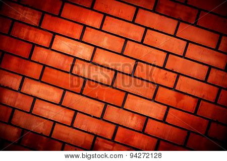 abstract red wall with brickwork