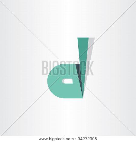Letter D Dark Green Symbol