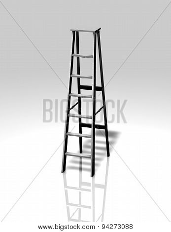 Metal Ladder Illustration Isolated