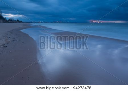 Baltic Shore With Dramatic Sky