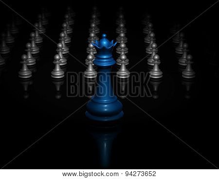 Dark Background With Chess Figures