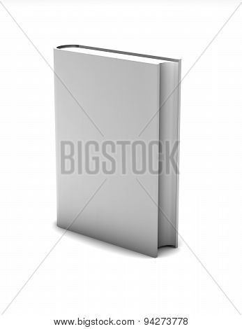 Blank White Book Isolated Standing Illustration