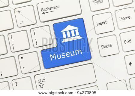 White Conceptual Keyboard - Museum (blue Key)