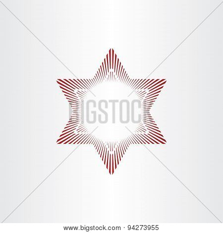 Red Star Abstract Background