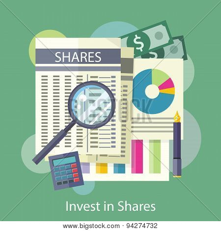 Tables, Reports, Charts of Share Price