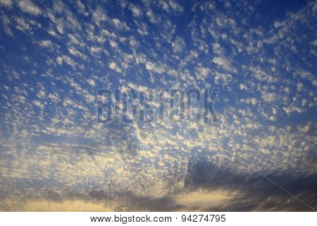 Dramatic Blue Sky With Beautiful Clouds