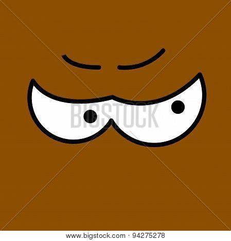 Vector cartoon eyes. Eps10