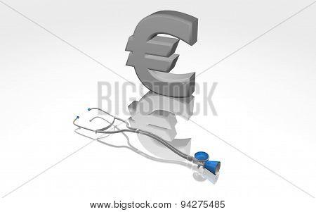 Euro Financial Problem Concept Illustration