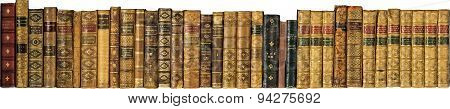 Old Vintage Antique books in a Row