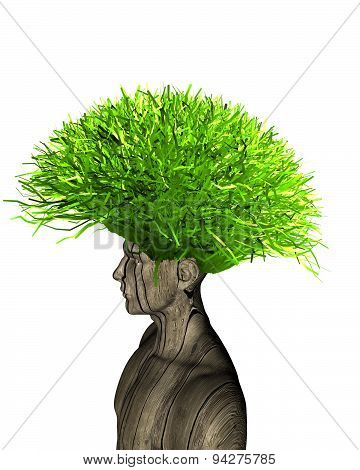 Ecologic Life And Thinking Concept Illustration