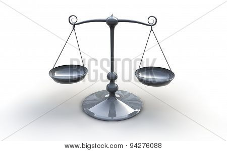 Metal Scales Illustration Isolated