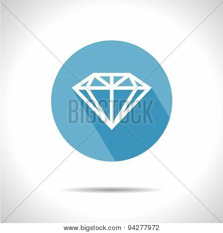 Vector diamond icon.  Eps 10
