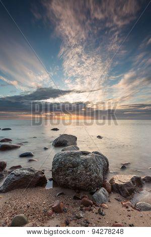 Rocky Baltic Sea Shore