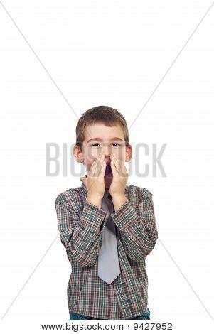 Happy Surprised Boy