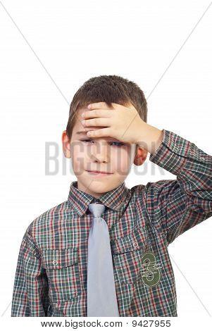 Boy With Head Ache