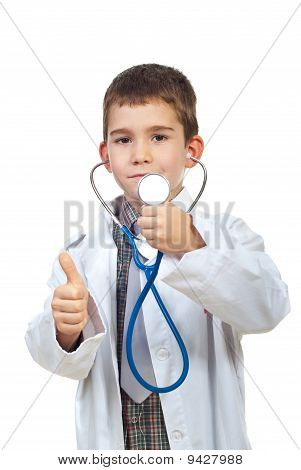 Successful Future Doctor Give Thumbs