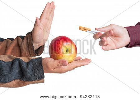 Man Refuse The Offer Of A Cigarette