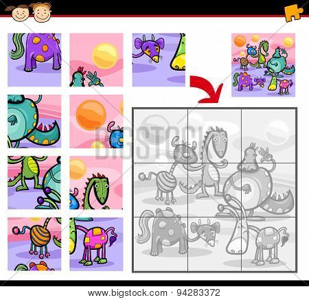 Fantasy Characters Jigsaw Puzzle Game