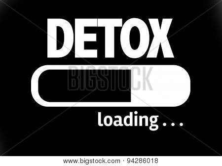 Progress Bar Loading with the text: Detox