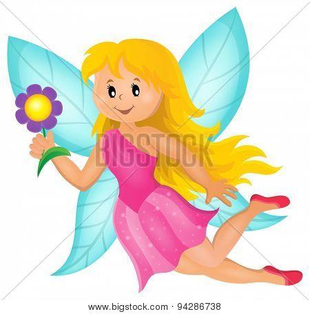 Happy fairy theme image 1 - eps10 vector illustration.