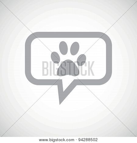 Paw grey message icon