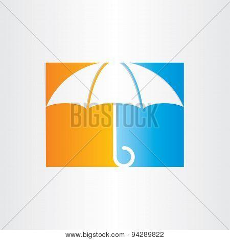Abstract Umbrella Icon Design
