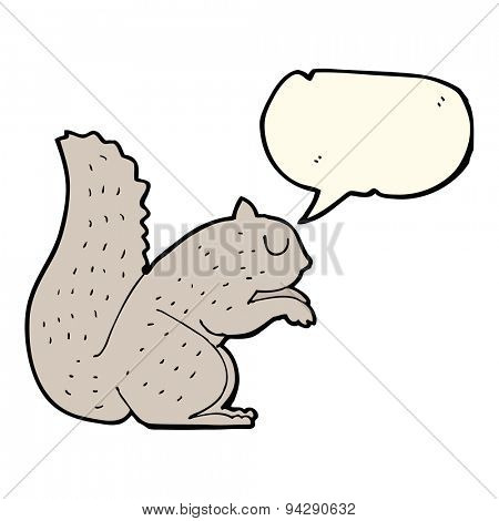 cartoon squirrel with speech bubble