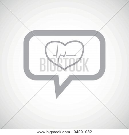 Cardiology grey message icon