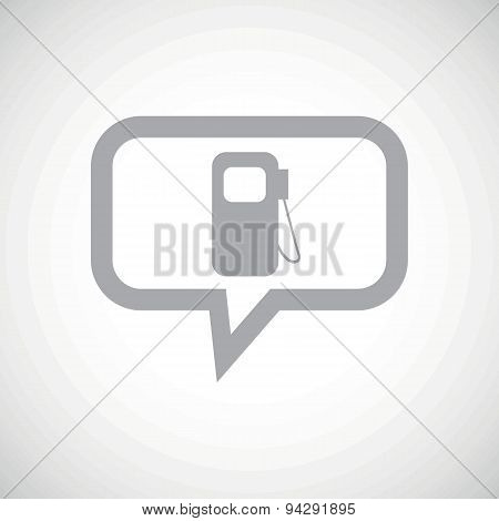 Gas station grey message icon